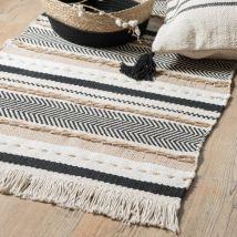 Cotton Rug with Stripe Print 90x150 (90x150x0cm) - Maisons du Monde