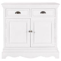 Credenza bianca in legno di paulonia L 86 cm - Bianco - 86x87x40cm - Maisons du Monde