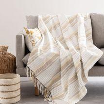 Decke aus Baumwolle, ecru, 160x210cm - Weiß - 160x210x0cm - Maisons du Monde