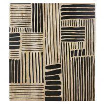 Déco murale gravée marron et noire 96x111 - Noir - 95.7x110.5x2.5cm - Maisons du Monde