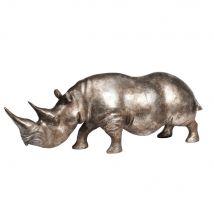 Figura de rinoceronte 27 x 75 cm - Plateado - 17x26.5x75cm - Maisons du Monde