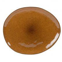 Flacher Teller aus Steinzeug, senfgelb - Gelb - 32.1x0x28.9cm - Maisons du Monde