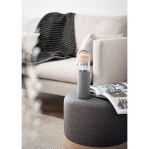 Grey glass, bamboo and silicone flask 0.65L - 5.5x22.5x5.5cm - Maisons du Monde