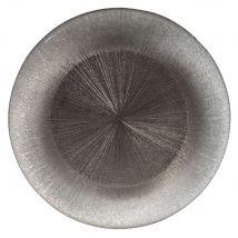 grey glass serving plate D 33 cm (32.5x0x0cm) - Maisons du Monde