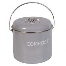 Grey Metal Pot - 21.5x18x0cm - Maisons du Monde