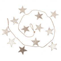 Guirlande de Noël étoiles à paillettes dorées L150 - Or - 0x0x150cm - Maisons du Monde