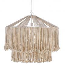Hängeleuchte Seile aus Jute und Metall, weiß - Beige - 70x101x119cm - Maisons du Monde