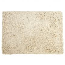 Hand-woven shaggy rug in ecru cotton and wool 160x230cm (160x230x2cm) - Maisons du Monde