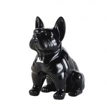 Hund aus Dolomit, schwarz H39 - Schwarz - 35x39x23cm - Maisons du Monde