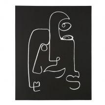 Kunstdruck Abstrakte Gesichter, 80x100cm - Weiß - 80.3x100x2.8cm - Maisons du Monde