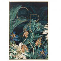 Kunstdruck mit Pflanzenmotiv, bunt, 40x60cm - Blau - 40x60x2cm - Maisons du Monde