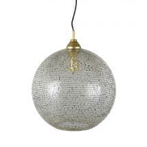 Lampada a sospensione con mosaico di vetro dorato e argentato - Argentato - 40x46x40cm - Maisons du Monde
