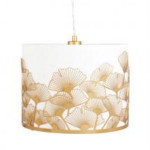 Lámpara de techo con hojas de ginkgo de metal dorado - Dorado - 32x28x32cm - Maisons du Monde