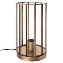 Lampe aus Glas und goldfarbenem Metall - Gold - 14.5x27.5x14.5cm - Maisons du Monde