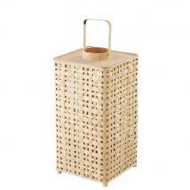 Lanterna in bambù intrecciato, H 60 cm - Beige - 30.5x60x30.5cm - Maisons du Monde