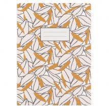 Libreta con estampado de hojas amarillas y blancas - Blanco - 13x18x0cm - Maisons du Monde