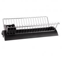 Metal and Grey Plastic Drainer - 41.5x11.5x25.5cm - Maisons du Monde