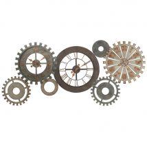Metal Cogwheel Clock L164 (164x75x3cm) - Maisons du Monde