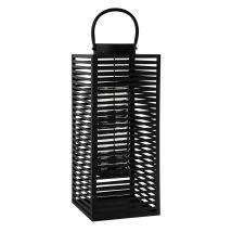 metal lantern in black H 61cm (25x60x25cm) - Maisons du Monde