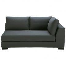 Modulares Sofa mit rechter Armlehne aus Baumwolle schiefergrau - Grau - 170x79x99cm - Maisons du Monde