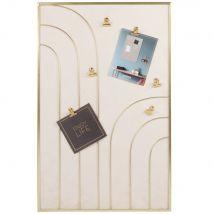 Montage frame in beige and gold 36x56cm (35.5x55.5x1cm) - Maisons du Monde