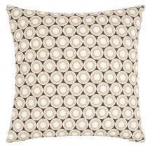 Olive green and black organic cotton cushion cover 40x40cm (40x40x0cm) - Maisons du Monde