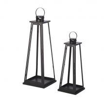 Outdoor lanterns in black metal (x2) (30x83.5x30cm) - Maisons du Monde