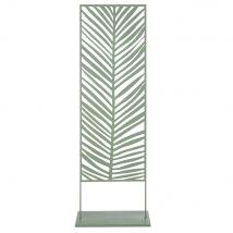 Outdoor leaf-pattern divider in carved green metal (50x171x30cm) - Maisons du Monde