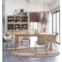 Ovaler Teppich aus Jute und Baumwolle, terrakottafarben 160x230 - Braun - 160x230x2cm - Maisons du Monde