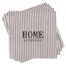 Pack of 20 Printed Striped Paper Napkins (33x0x33cm) - Maisons du Monde