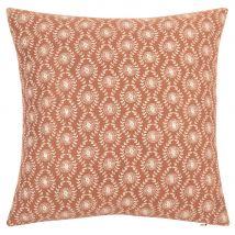Pink Cotton Cushion Cover with Gold Print 40x40 - 40x40x0cm - Maisons du Monde