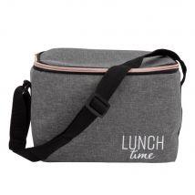 Printed aluminium cool bag in grey (22.5x17x15.5cm) - Maisons du Monde