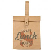Printed beige and grey aluminium cool bag (19x29.5x13cm) - Maisons du Monde