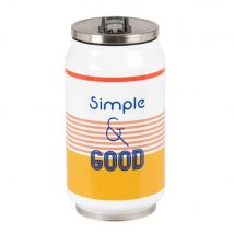 Printed multicoloured insulated steel can (7.2x14.1x0cm) - Maisons du Monde