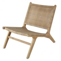 Resin Wicker and Solid Acacia Garden Armchair (59x71.5x80.5cm) - Maisons du Monde