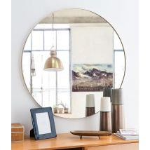 Runder Spiegel mit goldfarbenem Metallrahmen D90 - Gold - 90x90x2.5cm - Maisons du Monde
