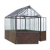 Rust effect metal greenhouse H 252cm (235x252x212cm) - Maisons du Monde