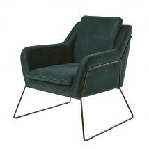 Sessel aus Samt grün - Grün - 68x85x76cm - Maisons du Monde