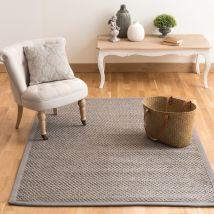 sisal woven rug in grey 140 x 200cm (140x200x2cm) - Maisons du Monde