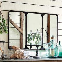 Specchio nero stile industriale in metallo 106x72 cm - Nero - 106x72x3cm - Maisons du Monde