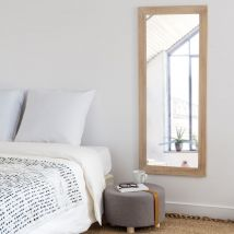 Spiegel mit Rahmen aus Paulownienholz 50x120 - Beige - 50x120x2cm - Maisons du Monde
