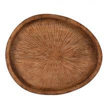 Tablett aus massivem Mangoholz, geschnitzt - Braun - 35x3.5x29.5cm - Maisons du Monde