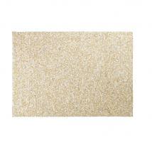 Teppich aus Kuhleder in Ecru und Gold mit grafischen Motiven 160x230 - 160x230x2cm - Maisons du Monde