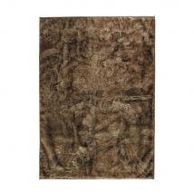 Teppich aus Kunstfell, 140 x 200 cm - Braun - 140x200x0cm - Maisons du Monde
