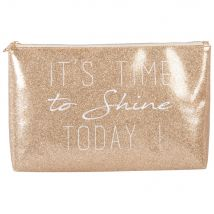 Toiletry Bag with Gold Glitter and Black Print - 32x20x9cm - Maisons du Monde