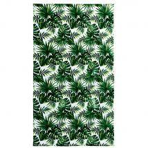 Velvet Terry Beach Towel with Tropical Print 100x180 (100x180x1cm) - Maisons du Monde