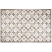 Vinylteppich mit grafischen Motiven, grau und weiß, 150x100cm - Weiß - 100x150x0cm - Maisons du Monde