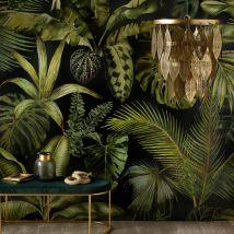 Vliestapete mit Pflanzenaufdruck 288x350 - Grün - 288x350x0cm - Maisons du Monde