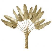 Wanddeko Palme aus goldfarbenem Metall 126x120 - Gold - 126x120x4cm - Maisons du Monde