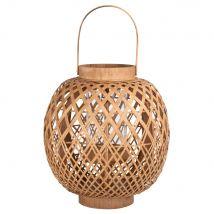 Woven Bamboo Lantern - 27x33x27cm - Maisons du Monde